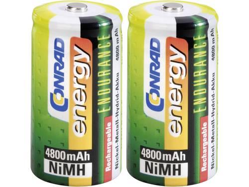 Oplaadbare C batterij (baby) Conrad energy Endurance HR14 NiMH 1.2 V 4800 mAh 2 stuks