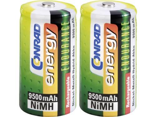 Oplaadbare D batterij (mono) Conrad energy Endurance HR20 NiMH 9500 mAh 1.2 V 2 stuks