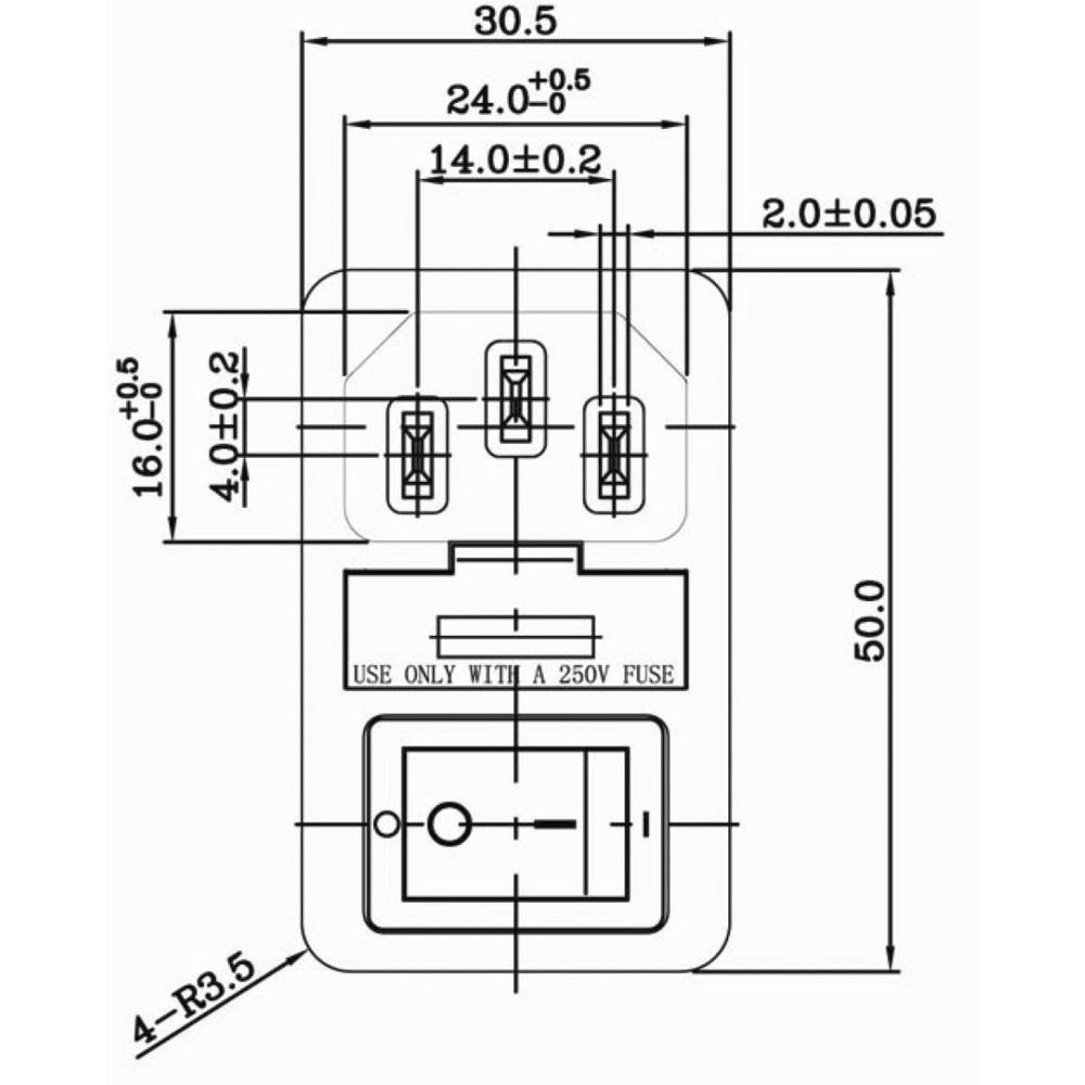 Iec Connector C14 Plug Panel Mounted Vertically Total Number Of Computer Wiring Diagram Pins 2