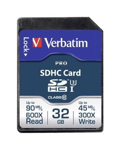 Image of Verbatim PRO SDHC card 32 GB Class 10 UHS-I, Class 10