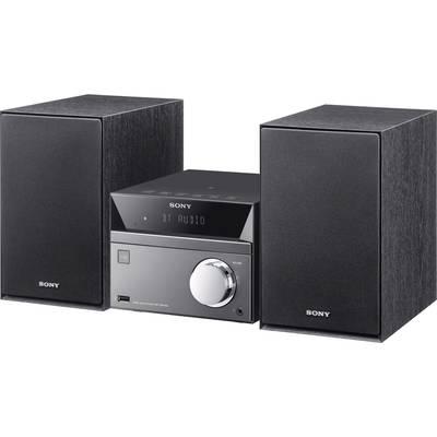 Sony CMT-SBT40D Audio system Bluetooth, CD, DVD, AM, NFC, FM, USB, 2 x 25 W Black