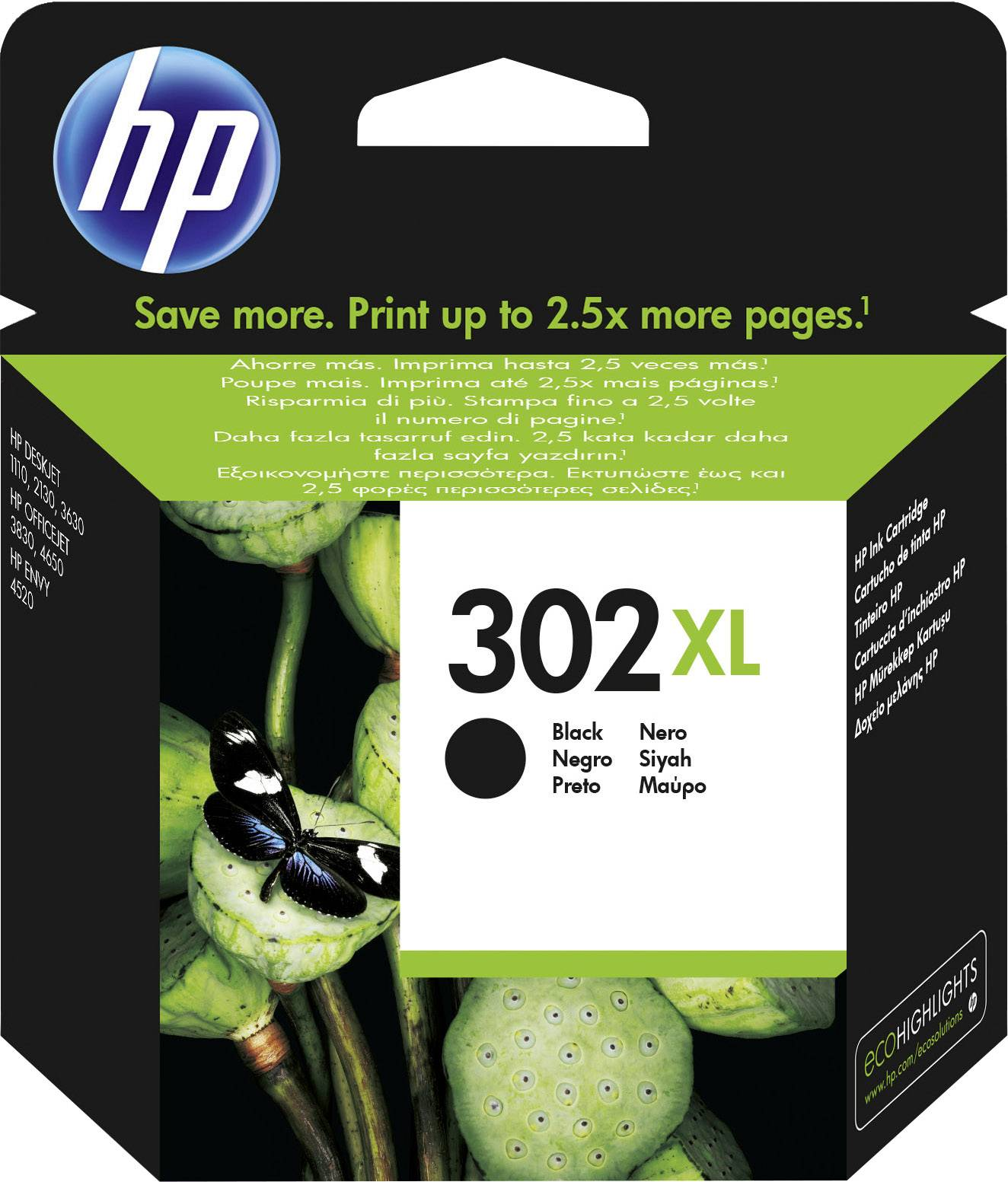 Hp Ink Cartridge 302xl Original Black F6u68ae Ink Cartridge