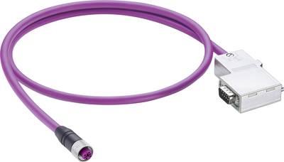 Belden 49296 Sensor/actuator data cable (pre-fab) M12 Plug, straight, Plug, right angle 2 m No. of pins (RJ): 5 1 pc(s)
