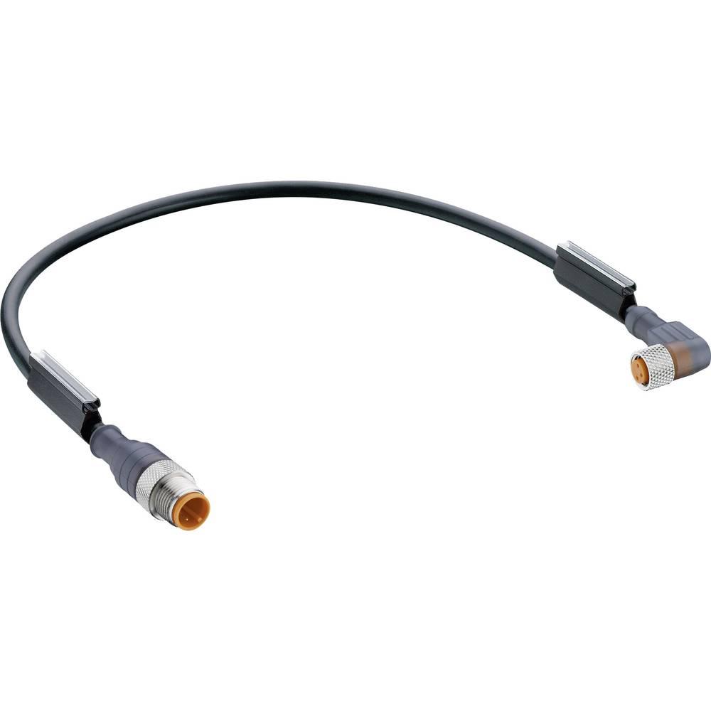 Povezovalni vodnik, M12 vtič, M8 kotna sklopka z LED, št. polov: 3 RST 3-RKMWV/LED A 3-224/2M Belden vsebina: 1 kos