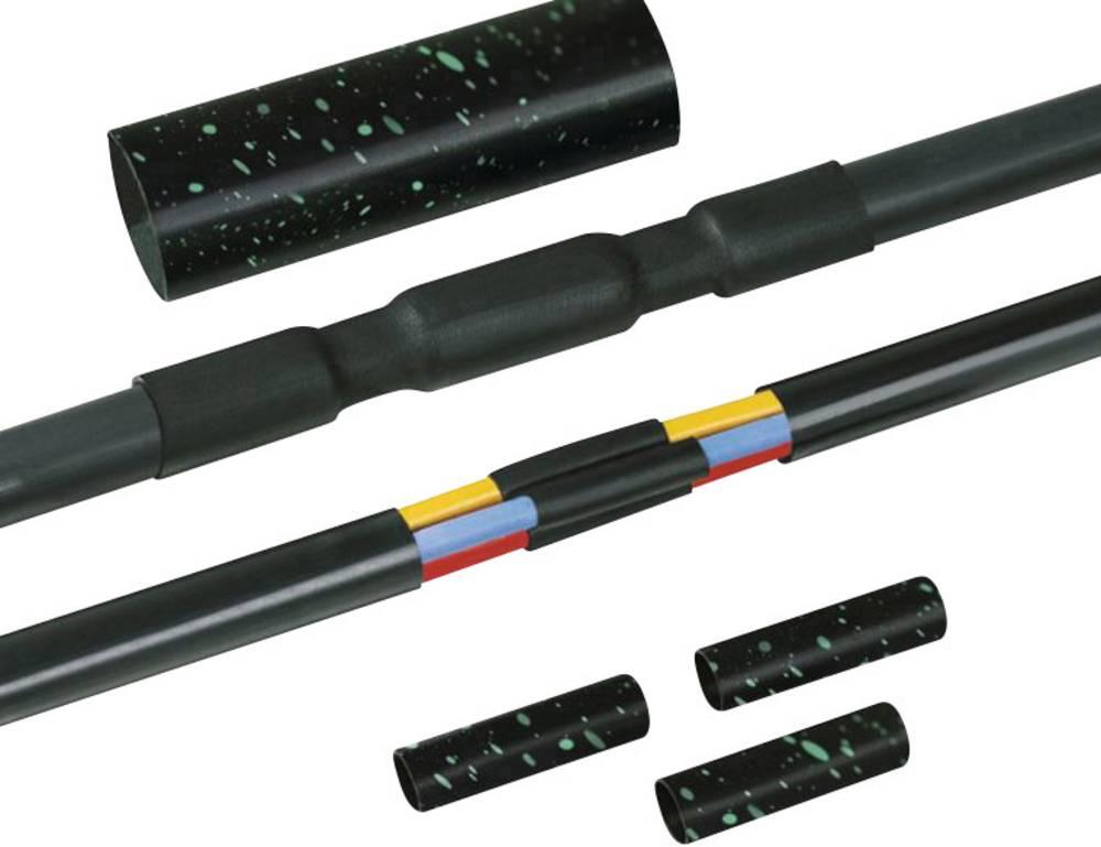 Toploskupljajući spojni komplet LVK-5x1.5-16 PO-X BK HellermannTyton stopa skupljanja do 4:1, sadržaj: 1 set