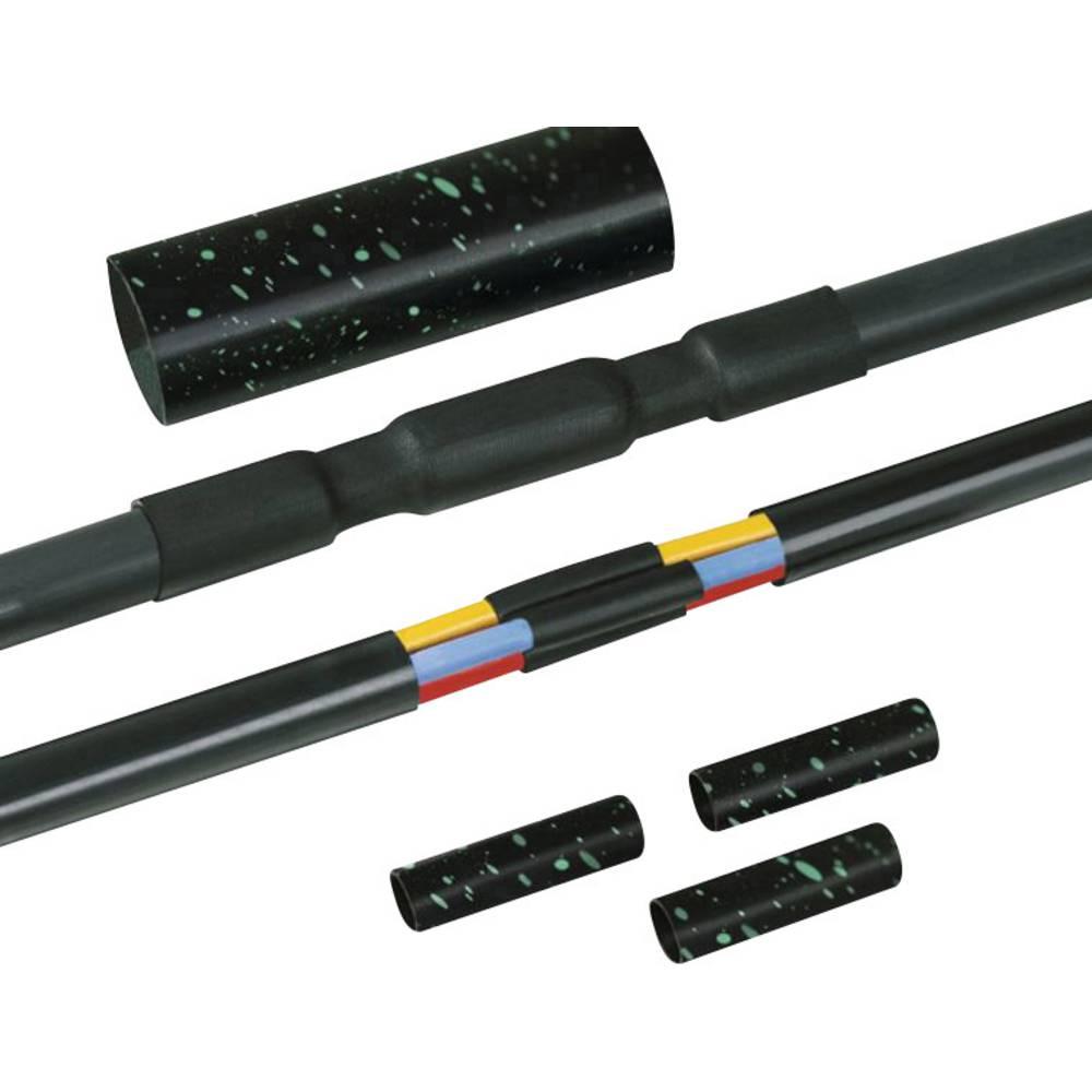 Skrčljiva povezovalna garnitura, skrčljiva do 4:1 HellermannTyton LVK-4x95-300 PO-X BK vsebuje: 1 komplet