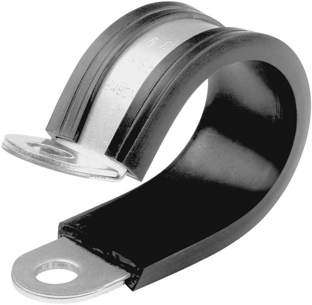 Spojnica za držanje cijevi NORMAFIX® Norma raspon stezaljke: 19 mm srebrna, crna sadržaj: 1 kom.