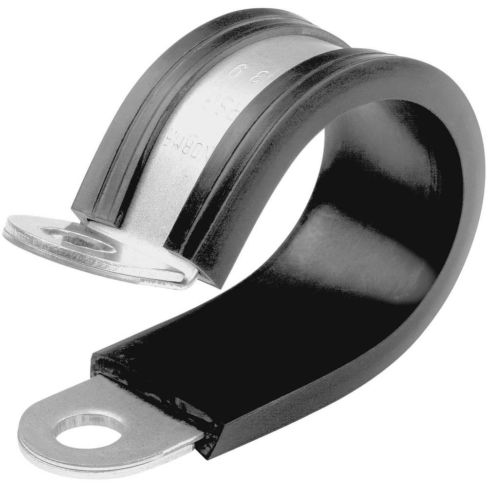 Spojnica za držanje cijevi NORMAFIX® Norma raspon stezaljke: 11 mm srebrna, crna sadržaj: 1 kom.