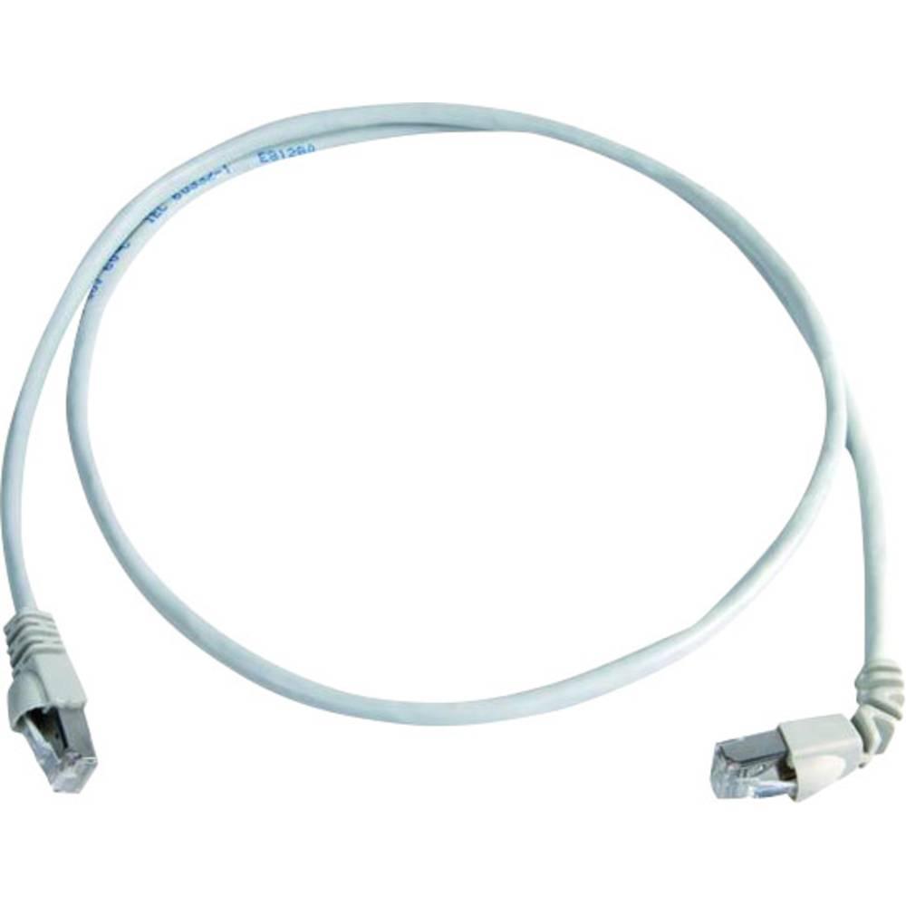 RJ45 omrežni priključni kabel CAT 6A S/FTP 3 m bele barve z zaščito pred gorenjem, brez halogena Telegärtner