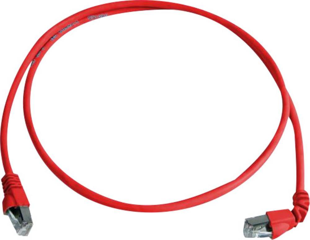 RJ45 omrežni priključni kabel CAT 6A S/FTP 5 m rdeče barve z zaščito pred gorenjem, brez halogena Telegärtner