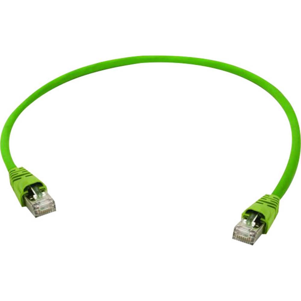 RJ45 omrežni priključni kabel CAT 7 S/FTP 1 m rumeno-zelene barve Telegärtner