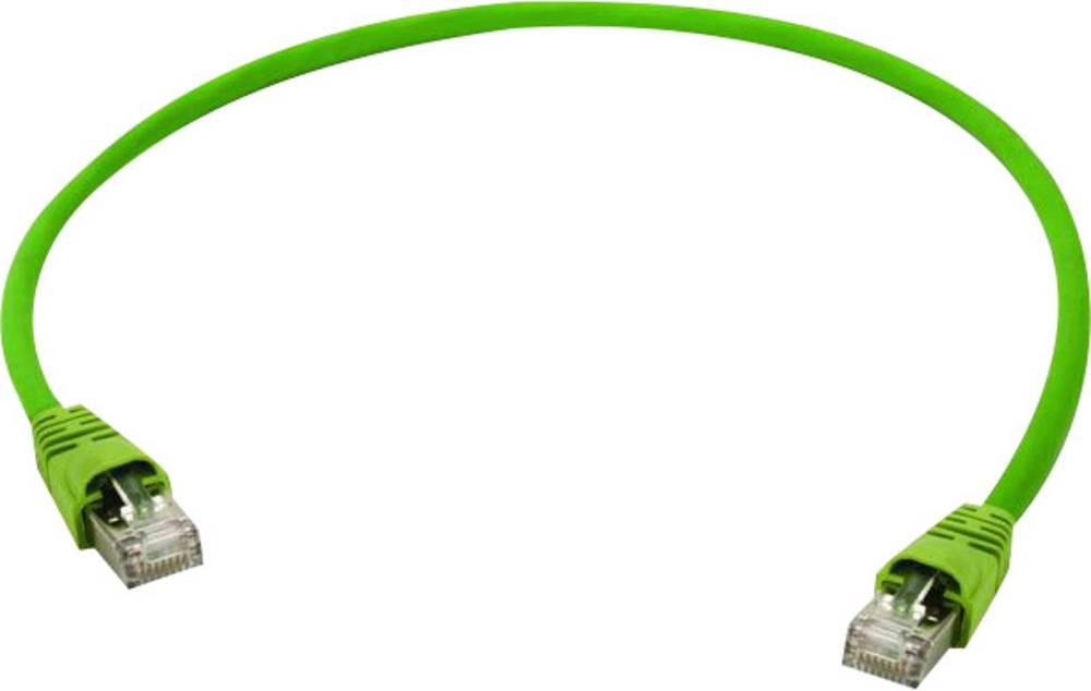 RJ45 omrežni priključni kabel CAT 7 S/FTP 3 m rumeno-zelene barve Telegärtner
