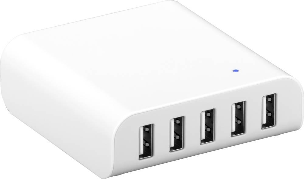 USB-oplader Goobay 44155 44155 Stikdåse Udgangsstrøm max. 8000 mA 5 x USB