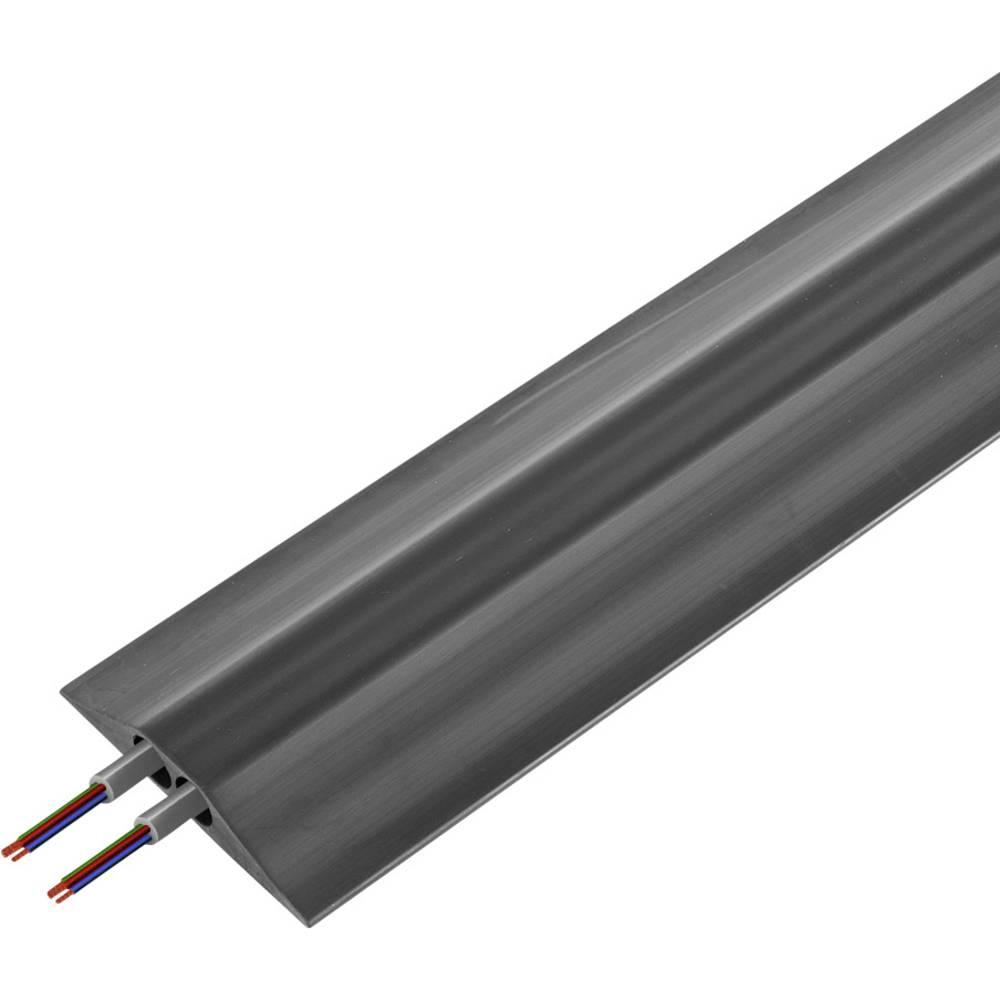 Talna zaščita za kable , industrijski, tipa FF (D x Š x V) 4500 x 156 x 30 mm črne barve Vulcascot vsebuje: 1 kos