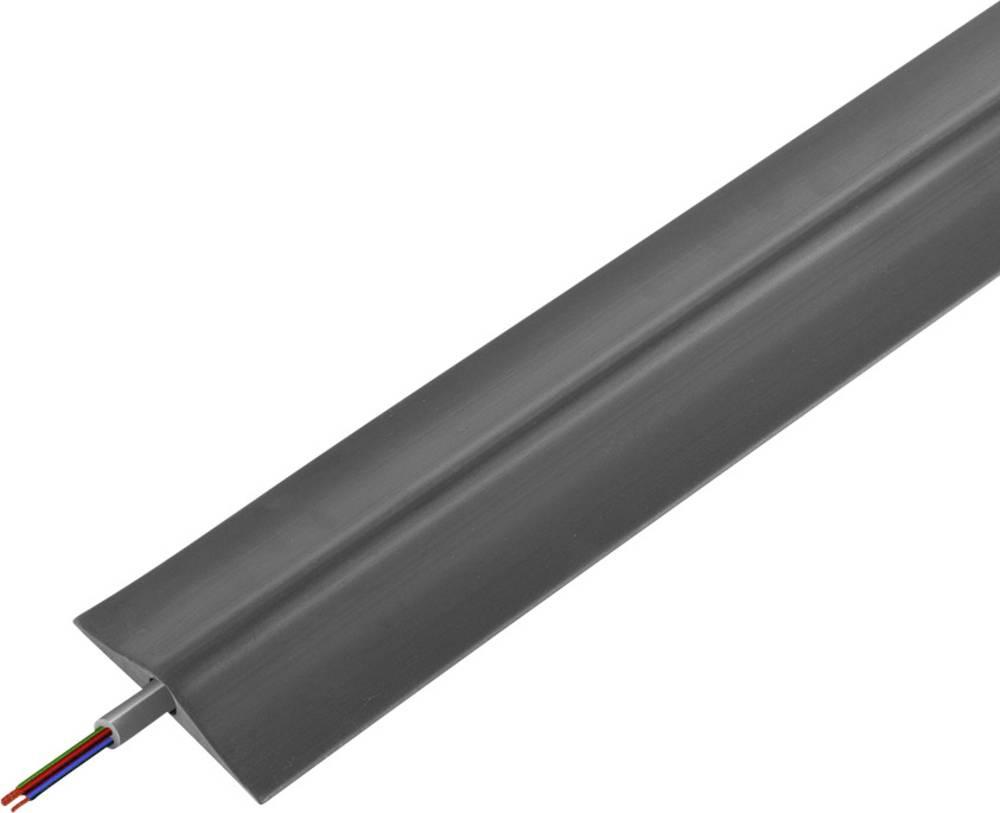 Talna zaščita za kable , industrijski, tipa G (D x Š x V) 4500 x 180 x 36 mm črne barve Vulcascot vsebuje: 1 kos