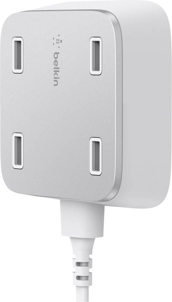 USB-opladerstation Belkin F8M990vfWHT F8M990vfWHT Stikdåse Udgangsstrøm max. 5400 mA 4 x USB