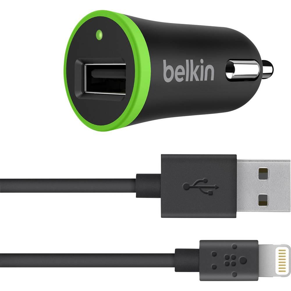 USB-oplader Belkin F8J121bt04-BLK F8J121bt04-BLK Personbil Udgangsstrøm max. 2400 mA 1 x USB