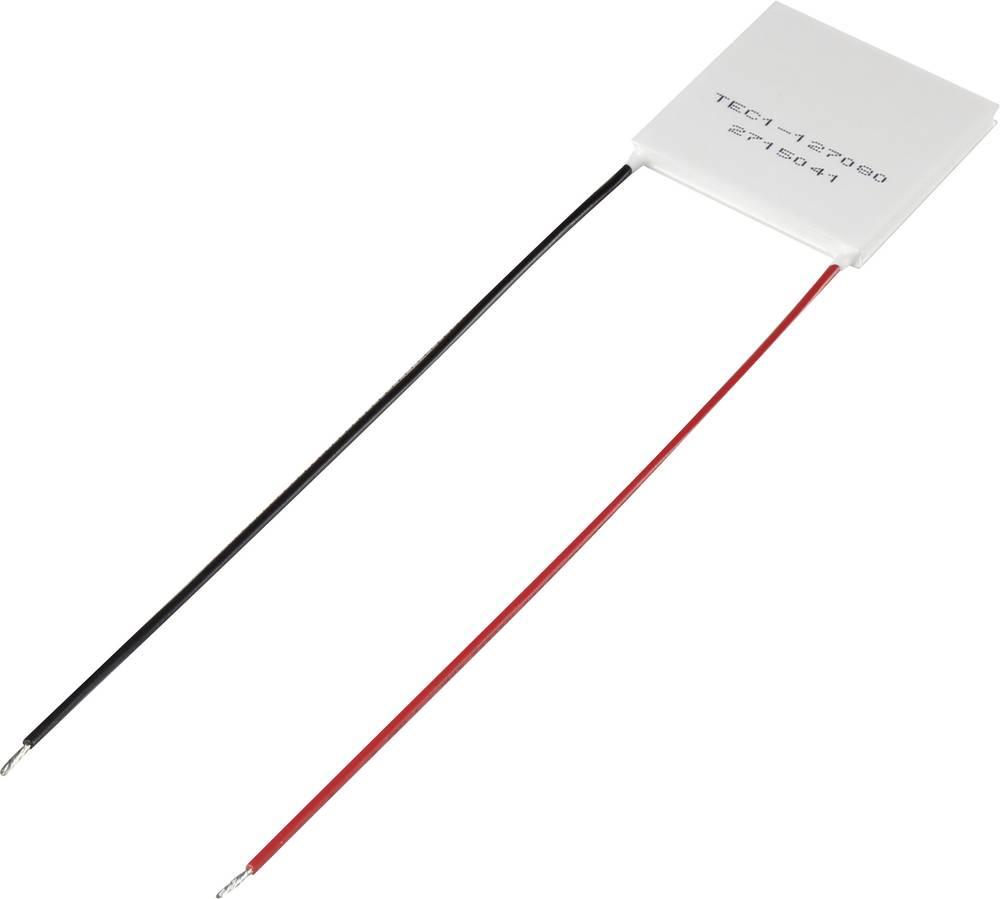 Peltier element 15.4 V/DC 8.5 A 72 W (D x Š x V) 40 x 40 x 3.3 mm TEC1-127080