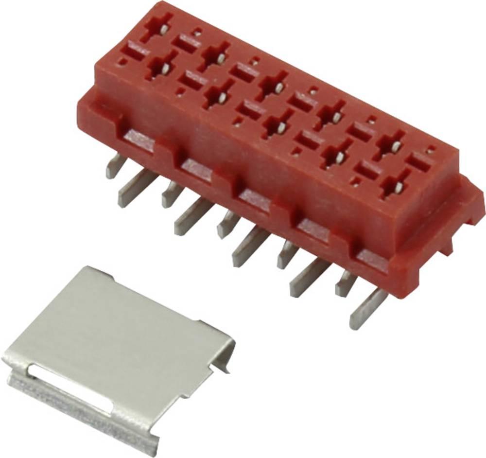 Stiftkabinet-printplade Micro-MaTch Samlet antal poler 4 Connfly 1390073 Rastermål: 1.27 mm 1 stk