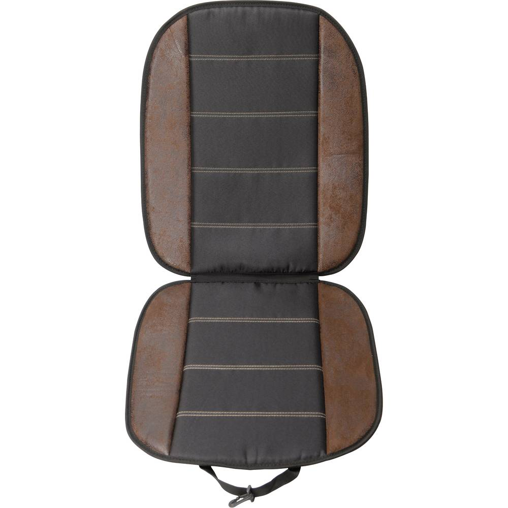 Sædehynde læder ser sort Unitec Sort, Brun 1 stk
