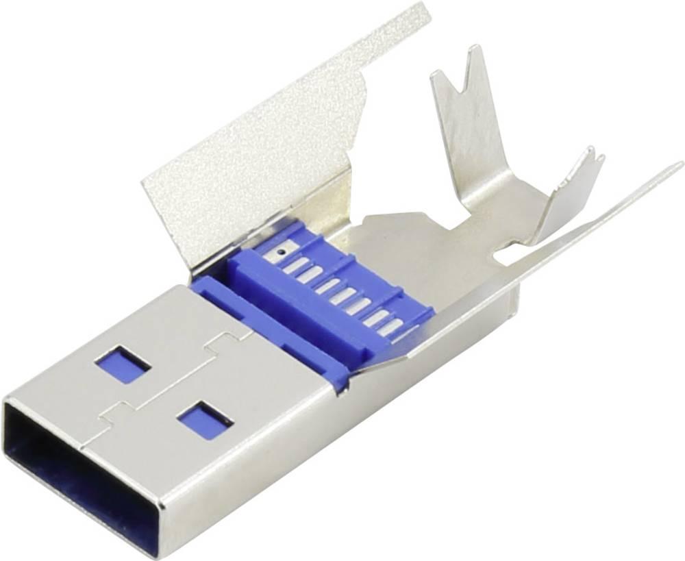 93013c1137 USB 3.1 hanstik A Sølv 1 stk