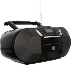 DAB+ CD-radio Dual DAB-P 200 AUX, CD, DAB+, kasetnik, UKV, USB črne barve