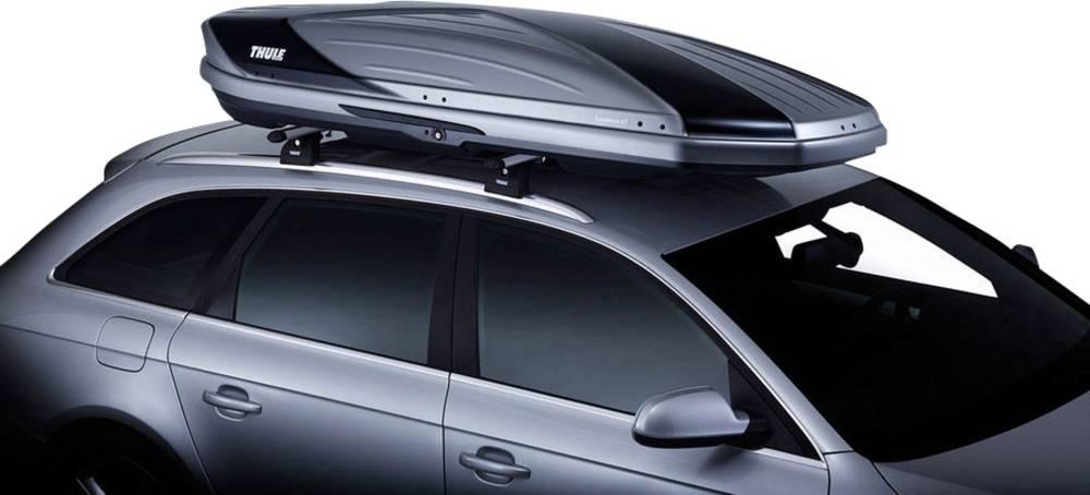Strešni kovček Thule Excellence XT black 470 l obojestransko odpiranje, hitra prtirditev, centralni zaklep, avtomatsko fiksiranj