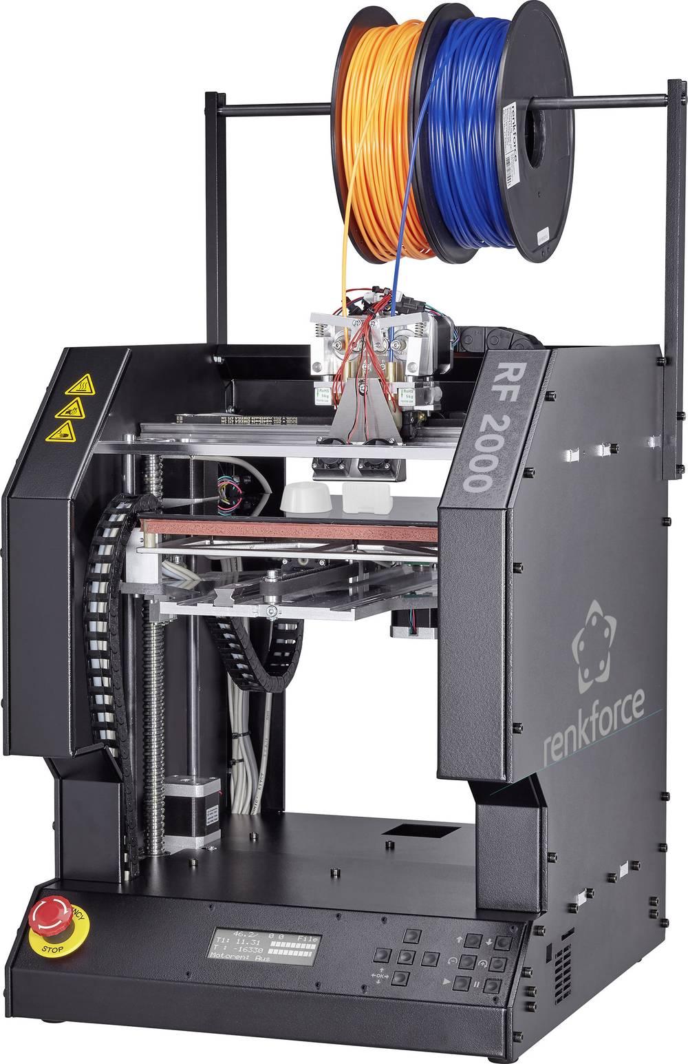 renkforce RF2000 3D tiskalnik, dvojni vgradni ekstruder