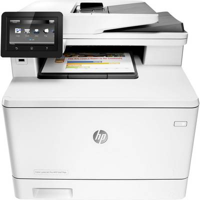 Image of HP Color LaserJet Pro MFP M477fdn Colour laser multifunction printer A4 Printer, scanner, copier, fax LAN, Duplex, Duplex ADF