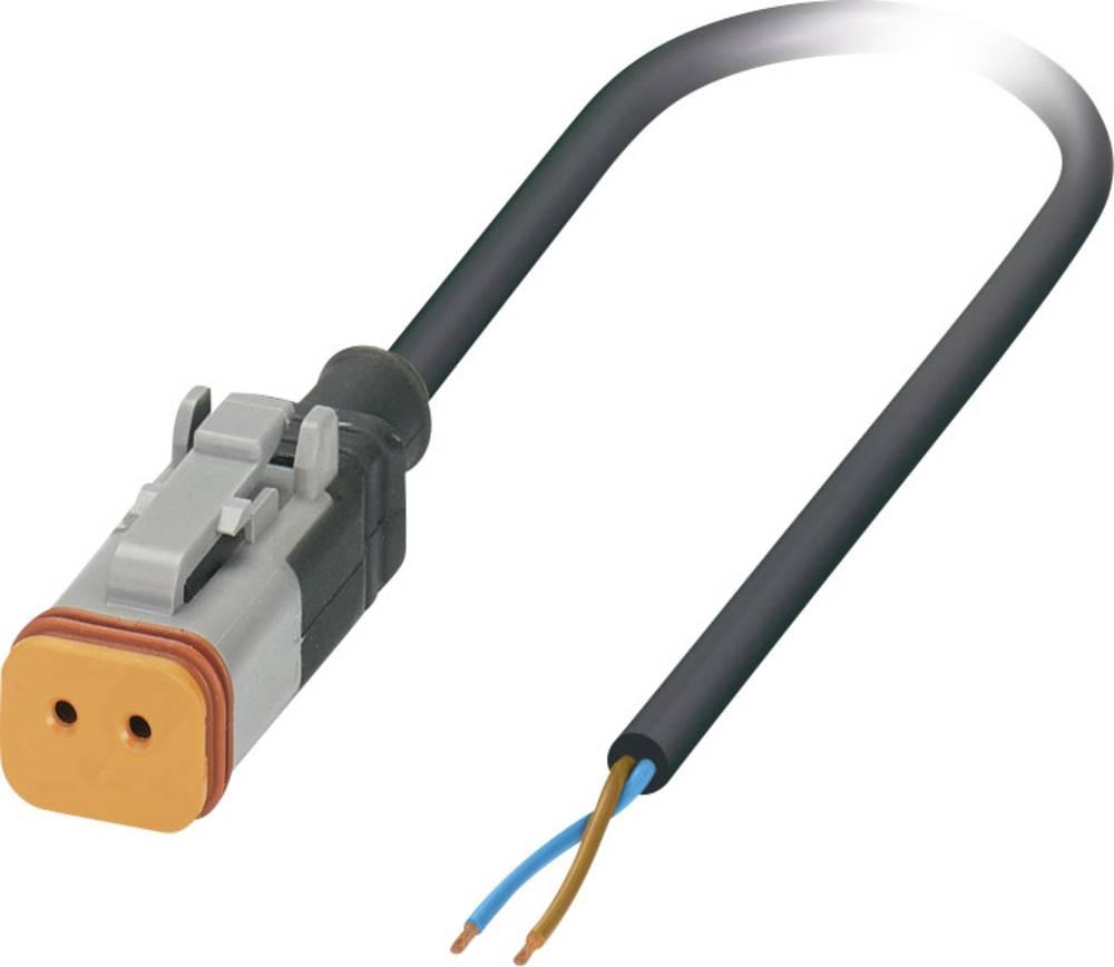 Senzorski/aktuatorski kabel, prost konec, vtičnica ravna DT06-2S Pole: 2 SAC-2P- 1,5-PUR/DTFS-1L Phoenix Contact vsebuje: 1 kos
