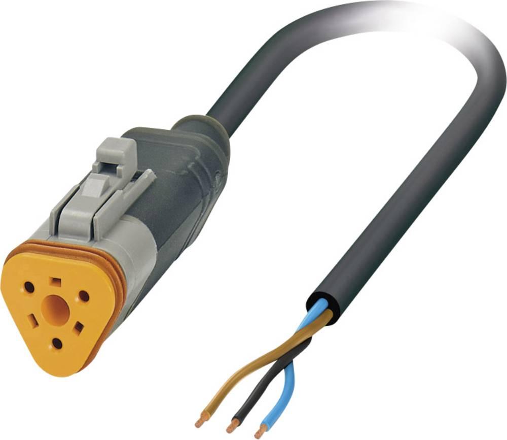 Senzorski/aktuatorski kabel, prost konec, vtičnica raven DT06-3S Pole: 3 SAC-3P- 1,5-PUR/DTFS Phoenix Contact vsebuje: 1 kos