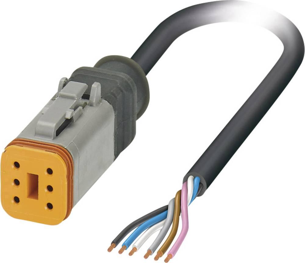 Senzorski/aktuatorski kabel, prost konec, vtičnica ravna DT06-6S Pole: 6 SAC-6P- 1,5-PUR/DTFS Phoenix Contact vsebuje: 1 kos