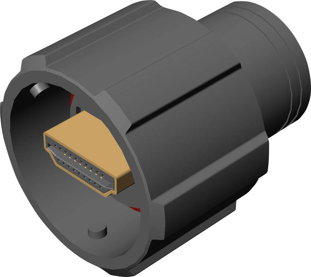 MH Connectors 690-W19-260-011 Sort 1 stk