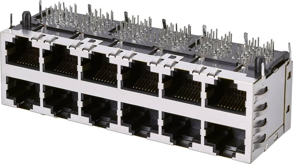 Modularna vgradna vtičnica 2x6 vhodov, CAT 5e vgradna vtičnica, št. polov: 10P8C A60-263-300P562 kovinska EDAC A60-263-300P562 1