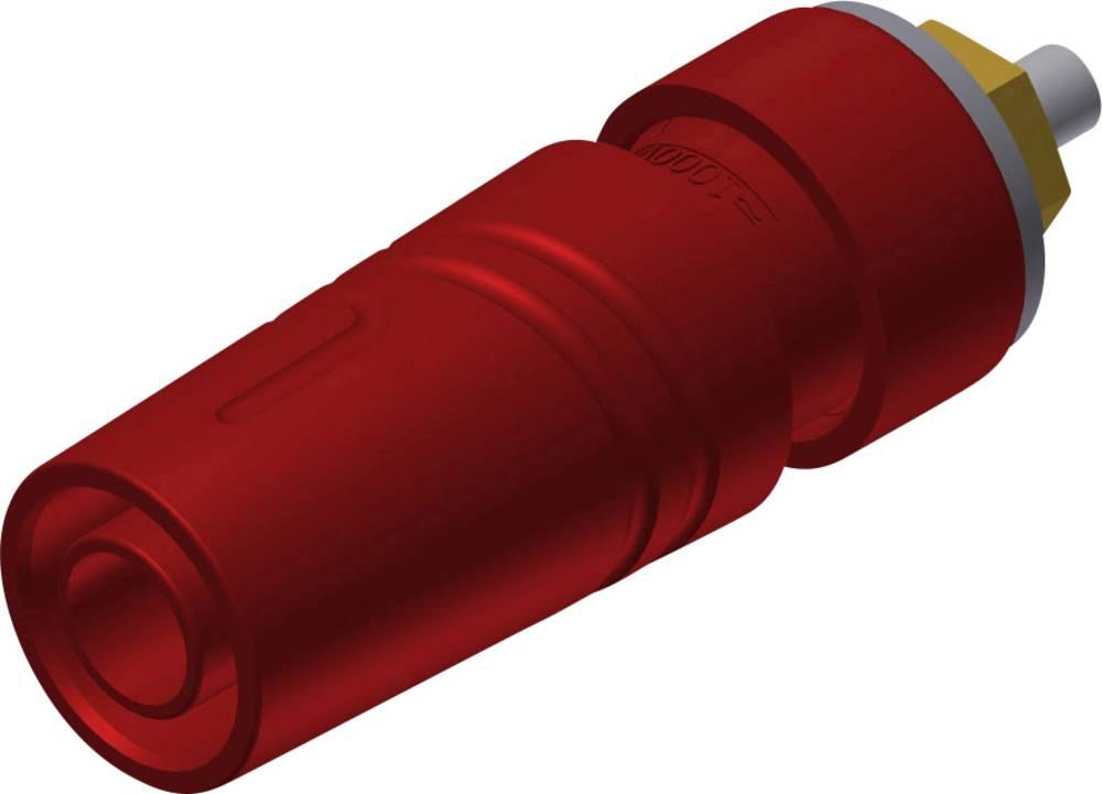 Sikkerheds-laboratorietilslutning Tilslutning, indbygning lodret SKS Hirschmann SAB 2640 LK Au 4 mm Rød 1 stk