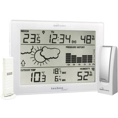 Techno Line Mobile Alerts MA 10006 Wireless digital weather station Forecasts for 1 day
