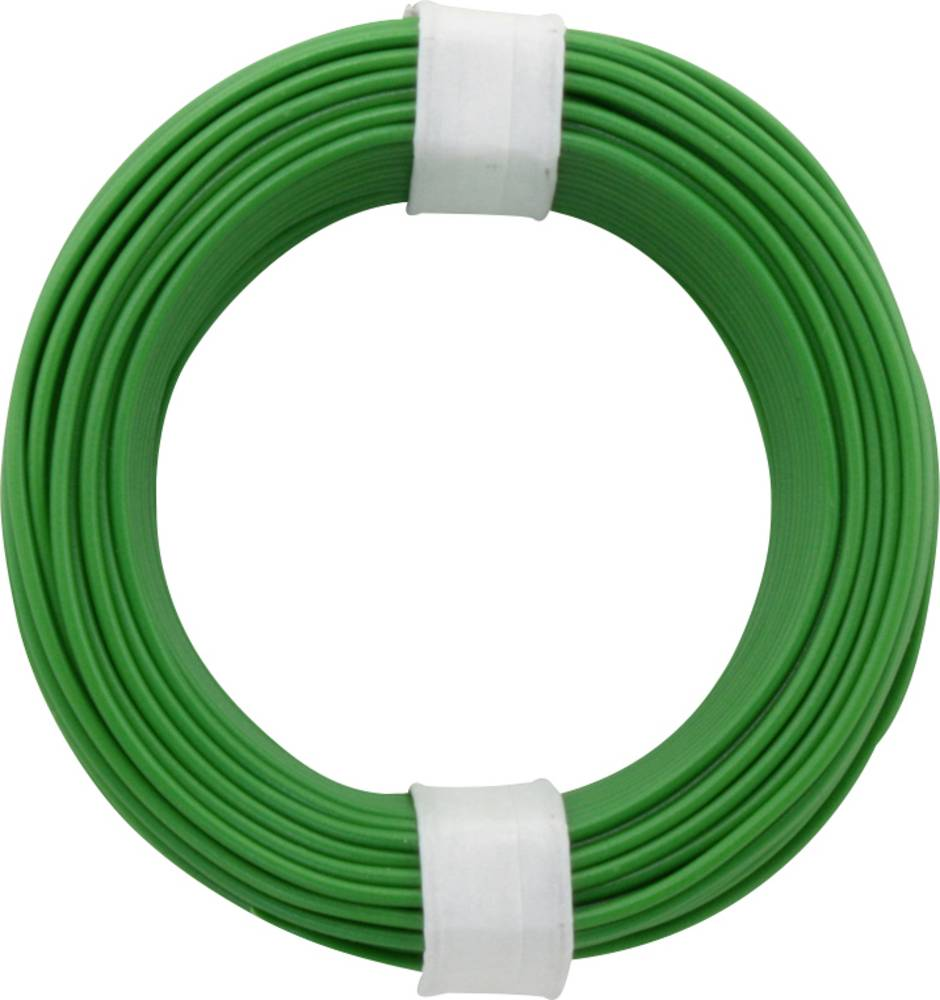 Finožični vodnik 1 x 0.14 mm zelene barve BELI-BECO L118/10 zelene barve 10 m