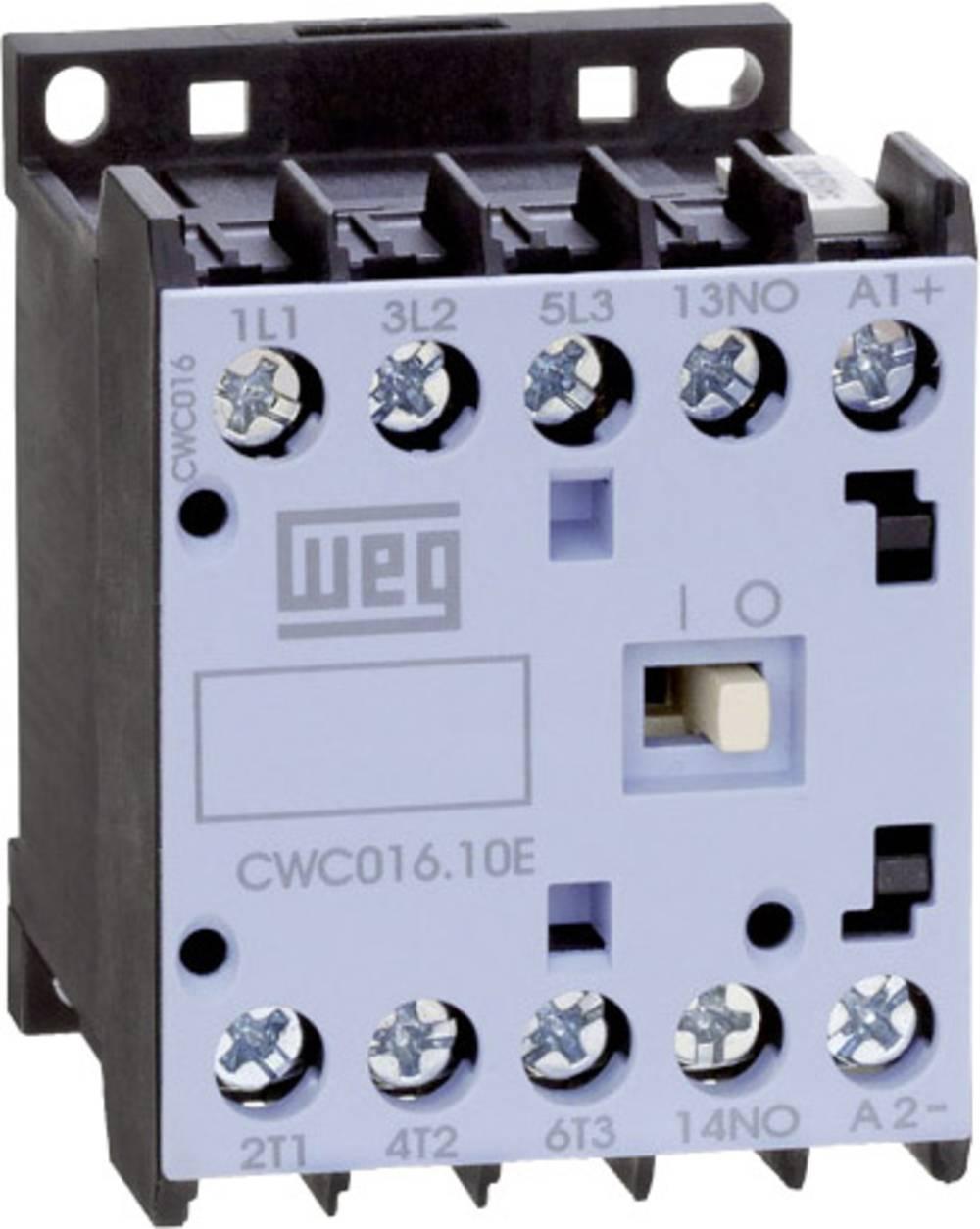 Kontaktor 1 stk CWC016-10-30D24 WEG 3 x afbryder 7.5 kW 230 V/AC 16 A med hjælpekontakt