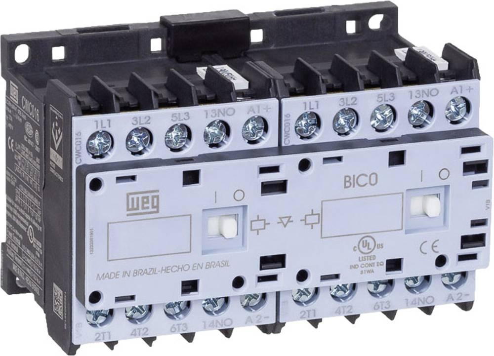 Vendekontaktor 1 stk CWCI09-10-30D24 WEG 6 lukker 4 kW 230 V/AC 9 A med hjælpekontakt