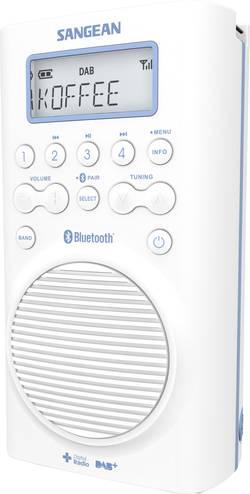 DAB+ Kopalniški radio Sangean H205D Bluetooth®, DAB+, UKV vodotesen bela