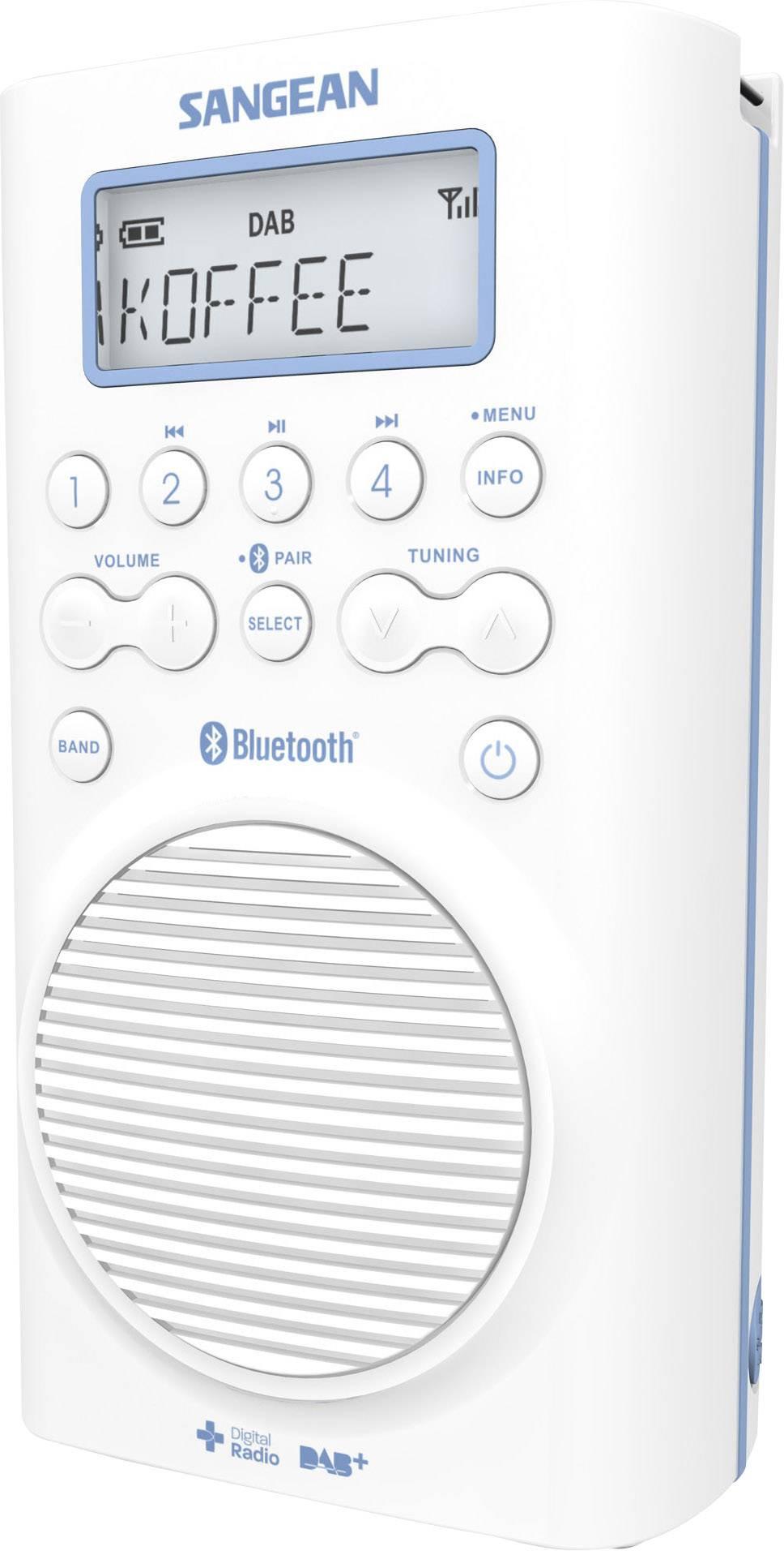 Sangean H205D DAB+ Bathroom Radio Bluetooth, DAB+, FM Waterproof White