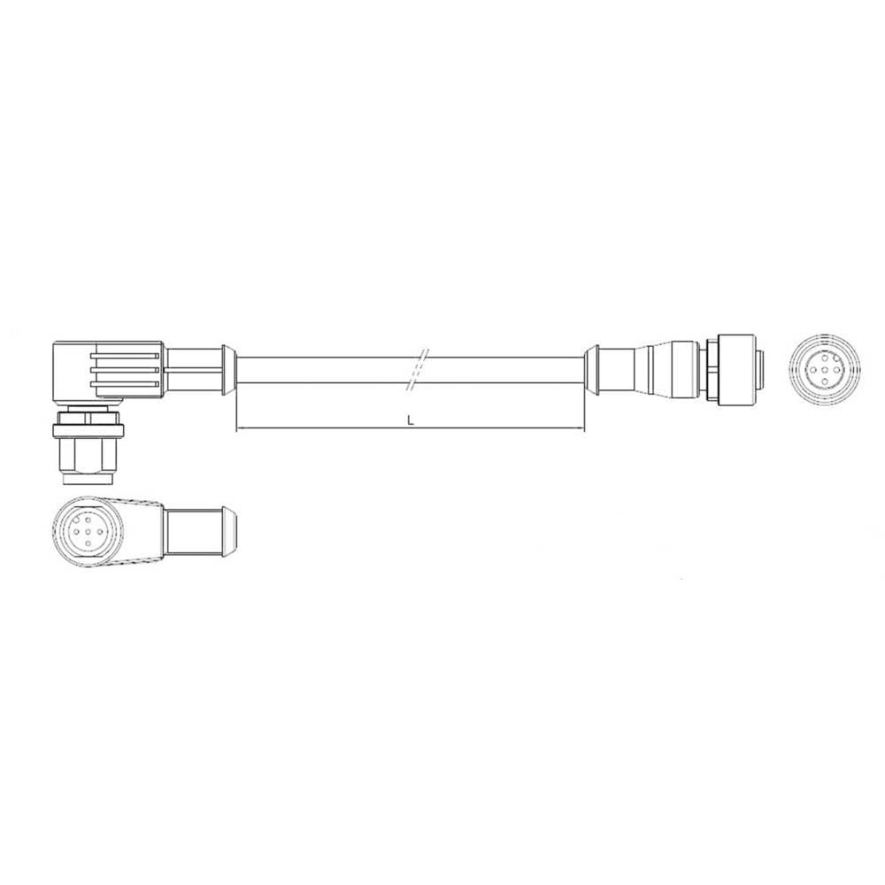 Sensor-, aktuator-stik, TE Connectivity 1-2273122-4 1 stk