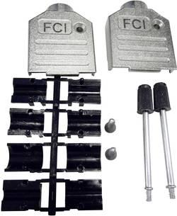 D-SUB-kabinet FCI D-SUB Poltal 9 180 ° Trykstøbt zink Sølv 1 stk