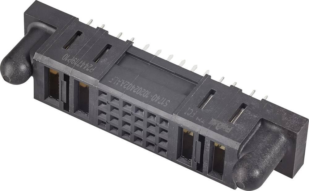 Bøsningsliste (standard) Samlet antal poler 24 FCI 51740-10202402AALF Rastermål: 2.54 mm 1 stk
