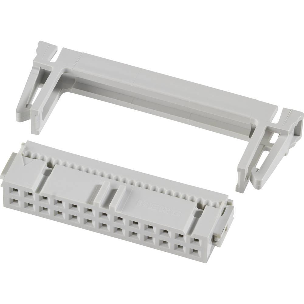 Pole-stikforbindelse med trækaflastning Rastermål: 2.54 mm Samlet antal poler: 10 FCI 1 stk