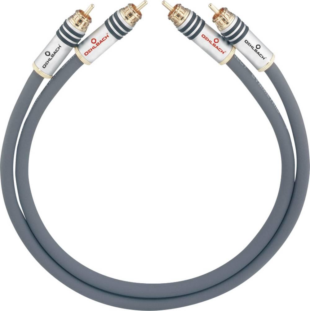 Cinch avdio priključni kabel [2x cinch vtič - 2x cinch vtič] 0.50 m antracitna pozlačeni kontakti Oehlbach NF 14 MASTER