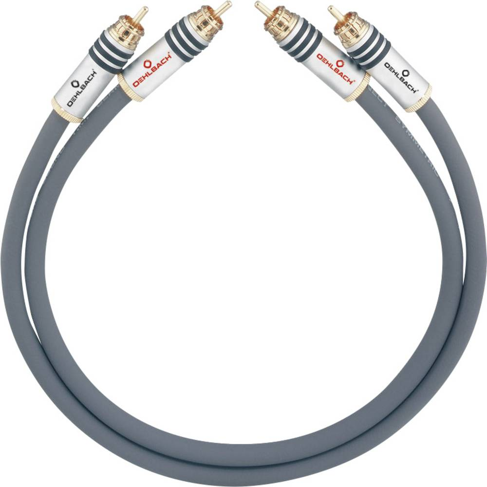 Cinch avdio priključni kabel [2x cinch vtič - 2x cinch vtič] 1.25 m antracitna pozlačeni kontakti Oehlbach NF 14 MASTER