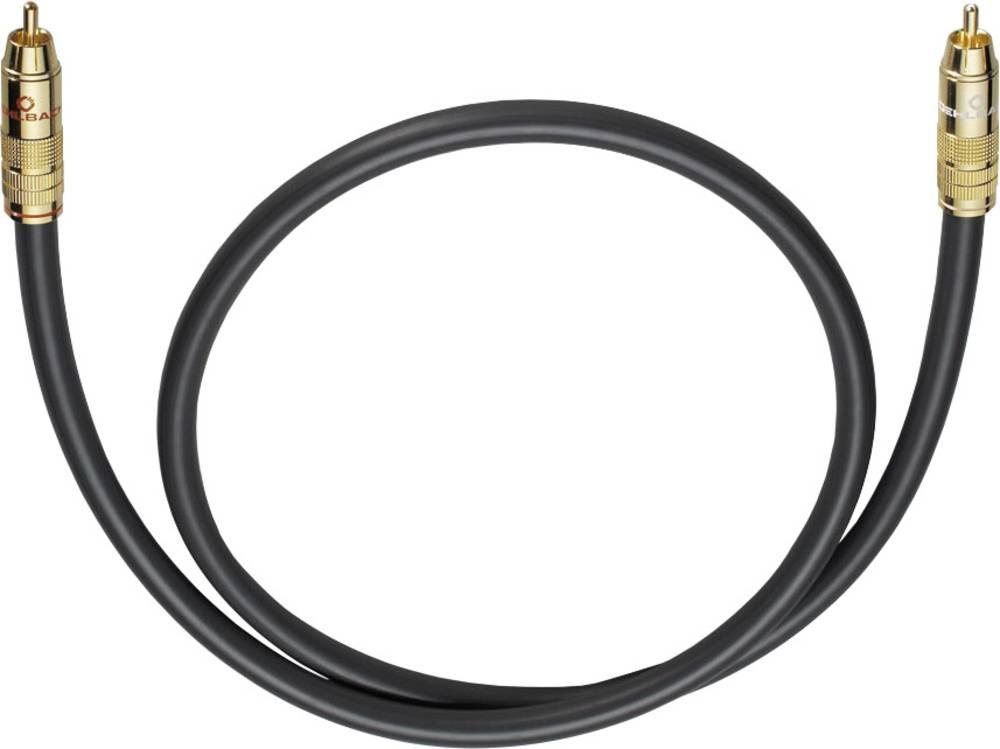 Cinch avdio priključni kabel [1x cinch vtič - 1x cinch vtič] 1 m antracitna pozlačeni kontakti Oehlbach NF 214 SUB