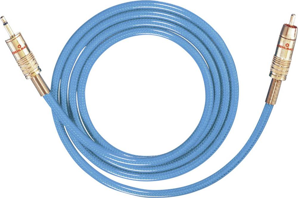 Cinch / Cinch avdio priključni kabel [1x cinch vtič - 1x Cinch vtič 3.5 mm] 1.50 m modra pozlačeni kontakti Oehlbach NF 113