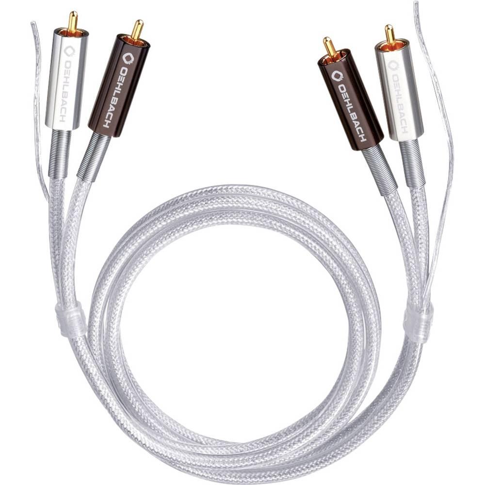 Cinch avdio priključni kabel [2x cinch vtič - 2x cinch vtič] 1 m transparentna pozlačeni kontakti Oehlbach Silver Express Plus